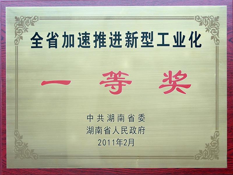 2011年全省加速推進新型工業化一等獎