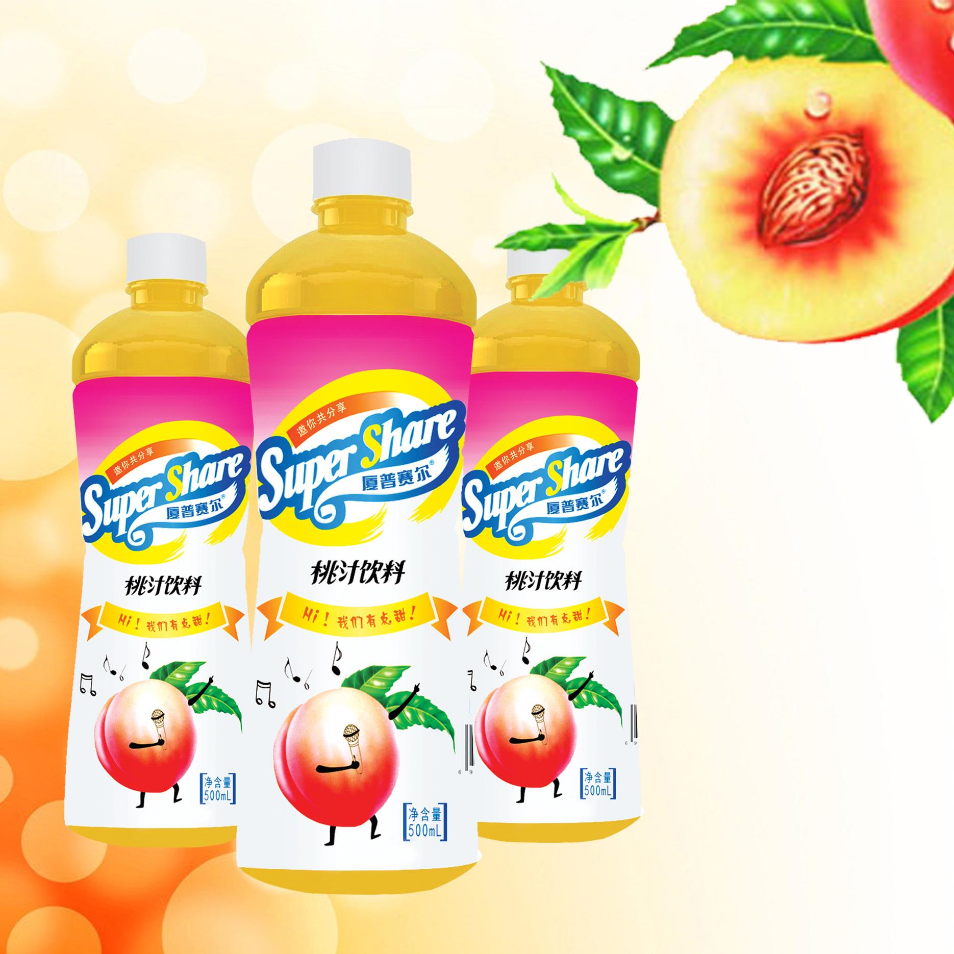 500mL桃汁饮料
