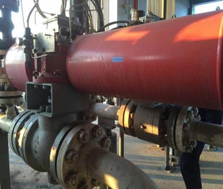 万华化学集团 煤浆循环管线回流调节阀 5.4MPa带压联投 2014年9月