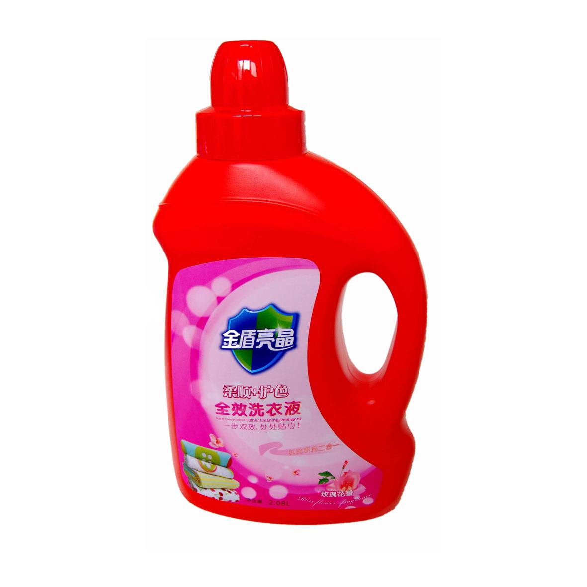 金盾亮晶 洗衣液2.08L.大紅瓶(全效/柔順+護色)