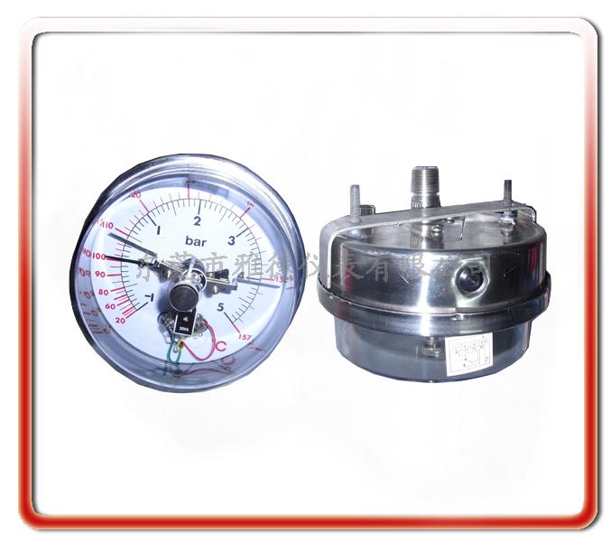 帶支架安裝電接點壓力表