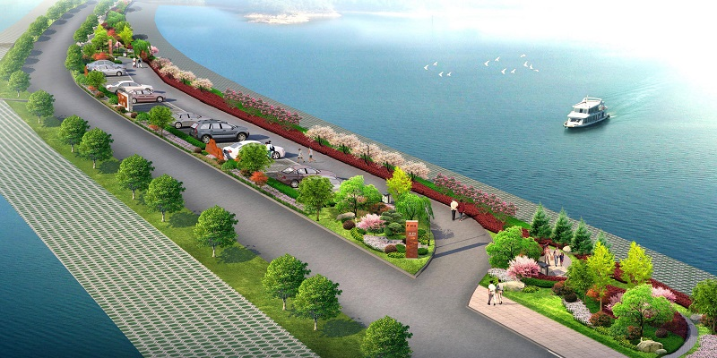 褒河左岸汉江回水段防护绿化设计