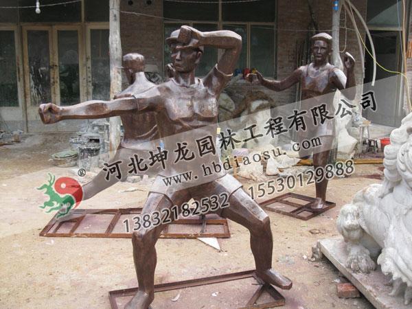 玻璃鋼人物雕塑027