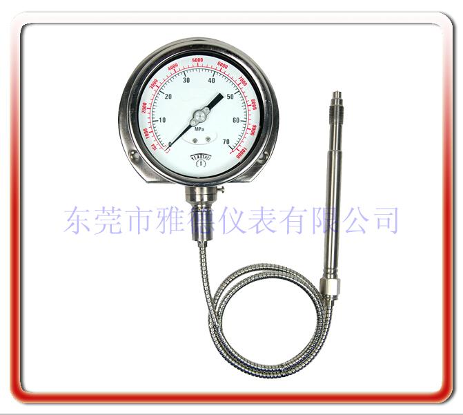 柔性管熔體壓力表