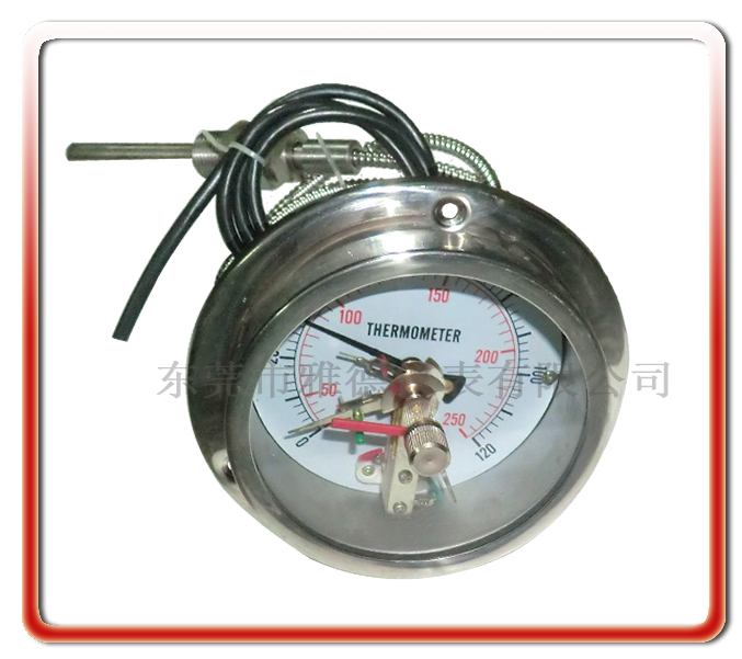 100MM軸向全鋼電接點壓力式溫度計