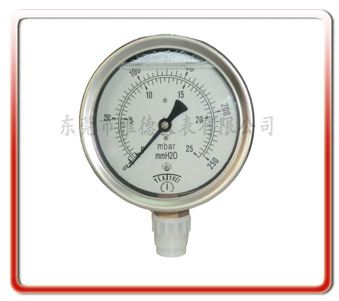 100MM徑向耐震微壓表